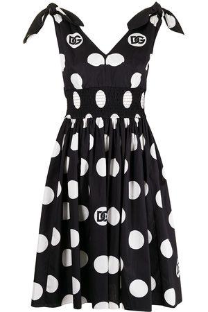 Dolce & Gabbana Mulher Vestidos Casual - Logo polka-dot dress