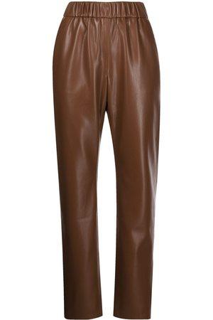 ANINE BING Mulher Calças em Pele - Colton faux leather trousers