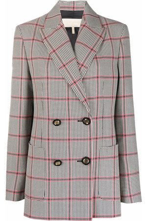 Elie saab Mulher Blazers - Double-breasted checked blazer
