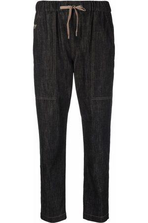 Brunello Cucinelli Drawstring tapered-leg jeans