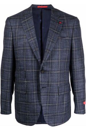 ISAIA Homem Blazers - Checked single-breasted blazer