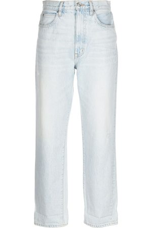 SLVRLAKE Mulher Tapered - Distressed tapered jeans