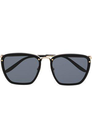 Gucci Engraved logo square-frame sunglasses