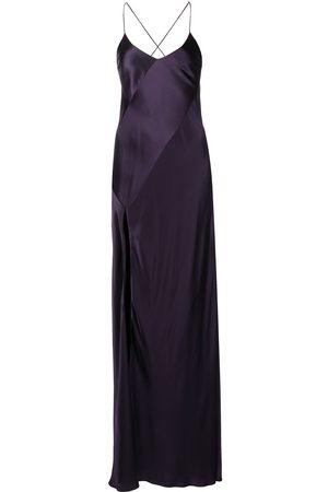 Michelle Mason Silk open back gown