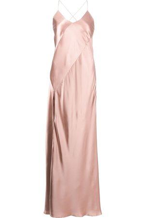 Michelle Mason Mulher Vestidos de Festa - Open-back silk gown