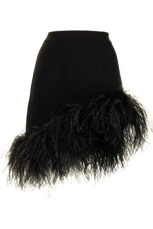 16Arlington Feather trim mini skirt