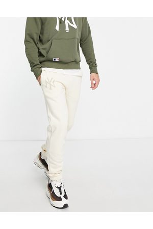 New Era Homem Joggers - New York Yankees relaxed fit joggers in beige-Neutral