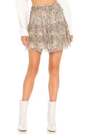 Tularosa Elodie Mini Skirt in - Pink. Size L (also in XXS, XS, S, M, XL).