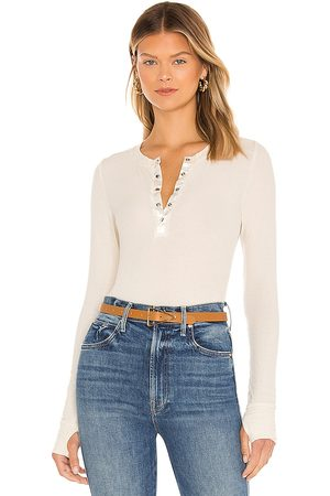 Michael Lauren Rogan Fitted Snap Henley with Satin Contrast in - . Size L (also in XS, S, M).