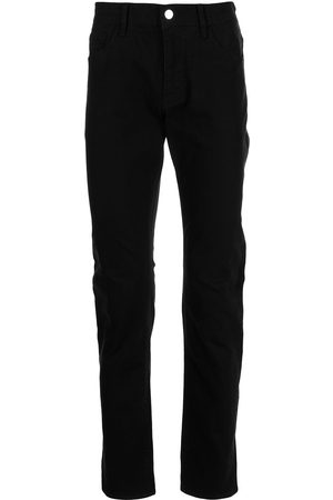 Armani Homem Slim - Logo-patch slim-fit jeans