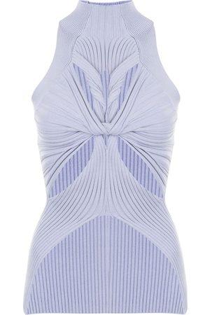 DION LEE Mulher Tops de Cavas - Ribbed muscular-twist tank top