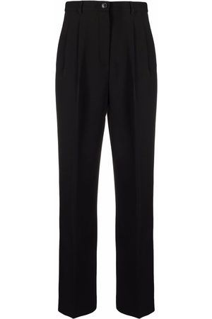 Tory Burch Pleat-detail four-pocket tailored trousers