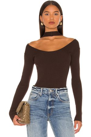 JONATHAN SIMKHAI Mulher Decote de Halter - Leah Twisted Cable Halter Top in - . Size L (also in XS, S, M).