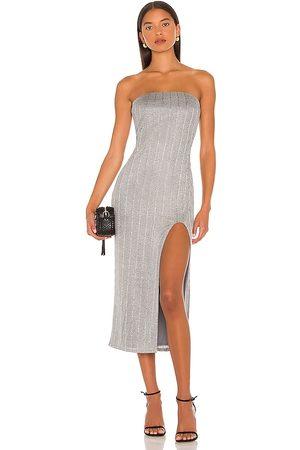 NBD Mulher Vestidos Midi - Joli Strapless Midi Dress in - Grey. Size L (also in XXS, XS, S, M, XL).
