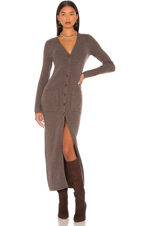 Weekend Stories Eben Knit Dress in - Taupe. Size L (also in XXS, XS, S, M, XL).