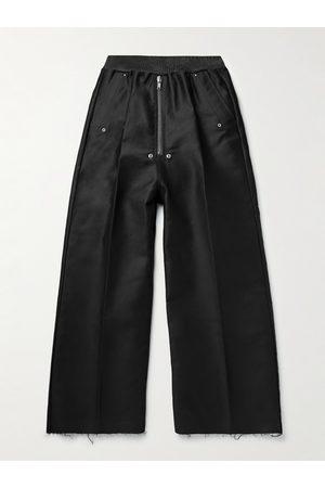 Rick Owens Geth Belas Wide-Leg Pleated Cotton Trousers