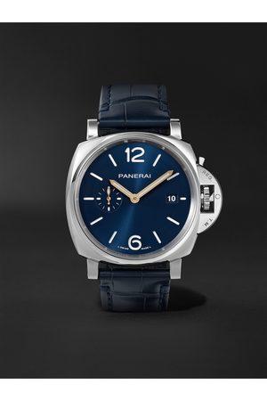 PANERAI Homem Relógios - Luminor Due Automatic 42mm Stainless Steel and Alligator Watch, Ref. No. PAM01274