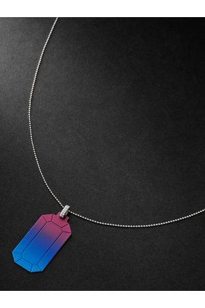 Eera Homem Colares - Tokyo 18-Karat White Gold Diamond Pendant Necklace
