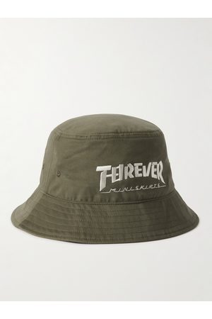 KAPITAL Embroidered Cotton-Twill Bucket Hat