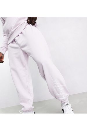 ASOS Homem Joggers - Oversized joggers in lilac with logo print-Purple