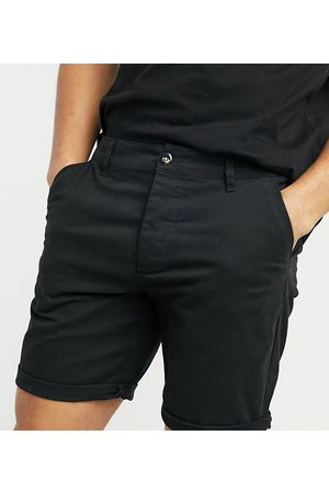 ASOS Homem Calções - Slim chino shorts in black