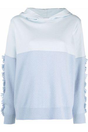 Barrie Fine-knit detail hoodie