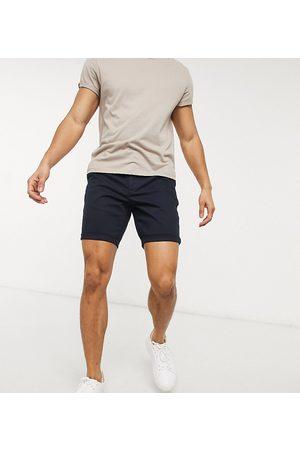 ASOS Homem Calções - Skinny chino shorts in navy