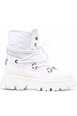 Casadei Mulher Botas com Atacadores - Lace-up chunky boots