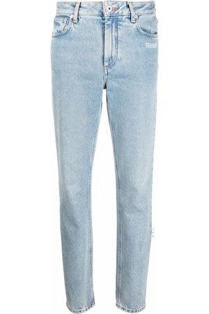 OFF-WHITE Mulher Retos - Logo-patch denim jeans