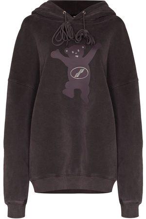 We11 Done Mulher Tops de Cavas - Teddy-print hoodie