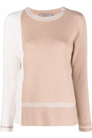D.EXTERIOR Mulher Camisolas - Colour-block cashmere-blend jumper