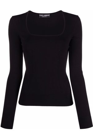 Dolce & Gabbana Knitted U-neck fitted top