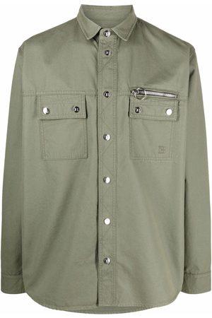 Balmain Homem Ganga - Snap-front denim shirt