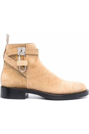 Givenchy Padlock-detail suede boots