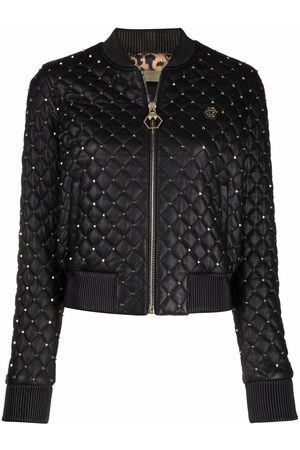 Philipp Plein Mulher Casacos - Quilted studded bomber jacket