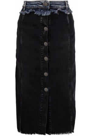 Pinko Panelled-denim pencil skirt