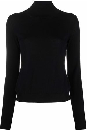 There Was One Stripe-detail high-neck knitted top