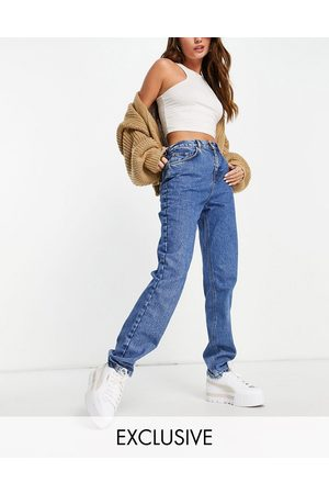 Reclaimed Mulher Retos - Inspired 81' organic cotton straight leg jean in mid blue