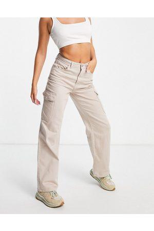 New Look Cargo pocket jean in stone-Neutral