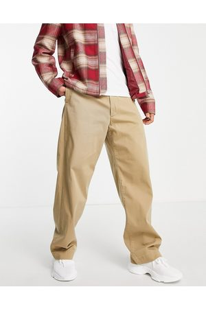 Levi's Homem Calças Chino - Levi's Skateboarding loose fit chino trousers in harvest gold beige-Neutral