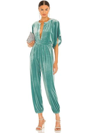 Norma Kamali Rectangle Jog Jumpsuit in - Mint. Size L (also in M, S, XS).