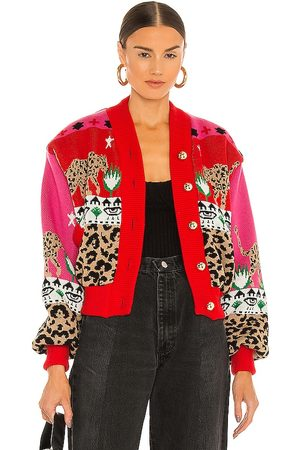 HAYLEY MENZIES Bomber Jacket in - Red. Size L (also in M, S, XS).