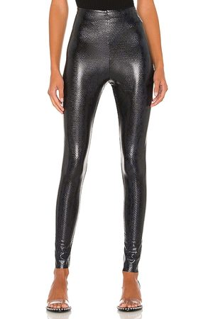 Commando Faux Leather Animal Legging in - Navy. Size M (also in S, XS).