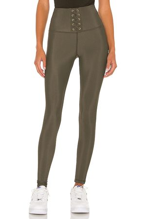 STRUT-THIS Liam Ankle Legging in - Olive. Size L (also in M, S, XL, XS).