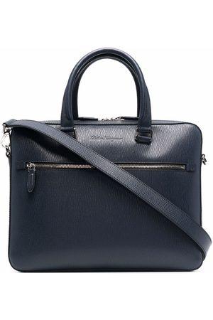 Salvatore Ferragamo Homem Pastas Negócios & Laptop - Debossed-logo leather briefcase