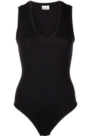Alix NYC Merit V-neck stretch-jersey bodysuit