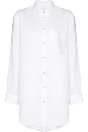 ASCENO Oversized linen shirt