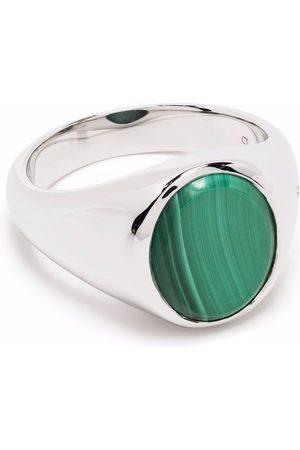 TOM WOOD Lizzie malachite signet ring