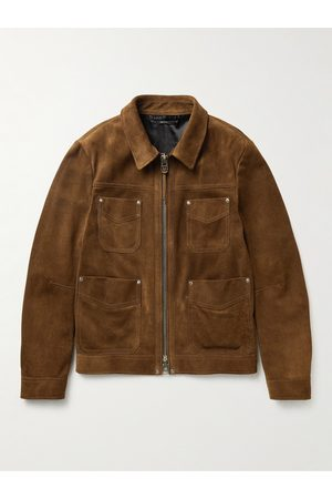Tom Ford Homem Casacos de Pele - Slim-Fit Suede Field Jacket