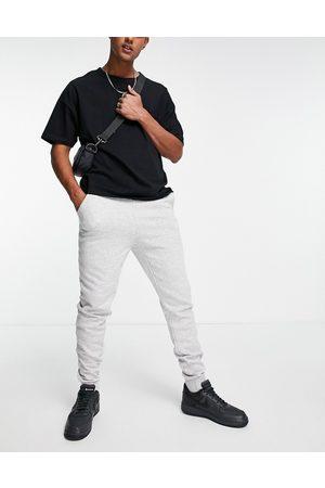 Le Breve Homem Joggers - Slim fit joggers in light grey